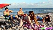 Malandrinhas da net amiguinhas metendo com os pais depois de provoca los na praia