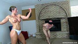 Vídeo porno brutal com mulher maromba judiando de marmanjo