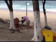 Cenas amadoras filme porno gravado em praia do Rio de Janeiro